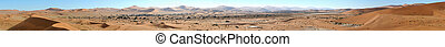 Sossusvlei panorama 1 - Panorama from ten photos of the...