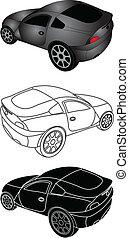 car - sporty car