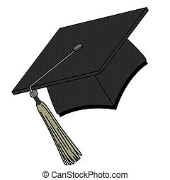 Graduation Hat - Graduation hat isolated on white
