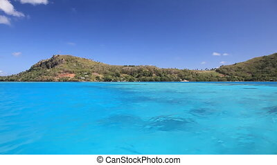 Maupiti - Magnificent Maupiti Lagoon in French Polynesia...
