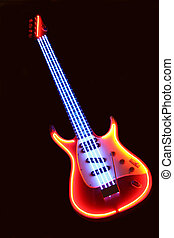 electronic guitar - Advertising model of electronic guitar...