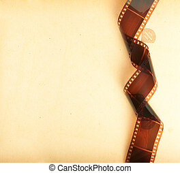 retro photo album background with filmstrip