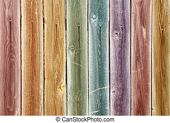 Background from multi-coloured wooden boards - Background of...