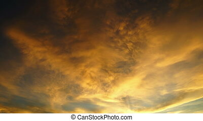 Sunset sky - time-lapse with zooming