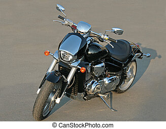 motorcycle - The motorcycle costing on the area on evening...