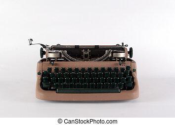 typewriter isolated object - typewriter isolated on white