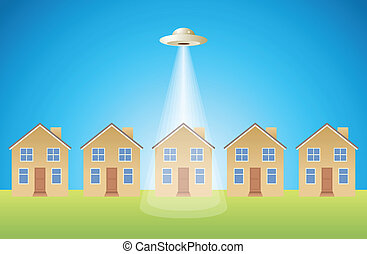 Singled Out - Alien Version - House singled out by an alien...