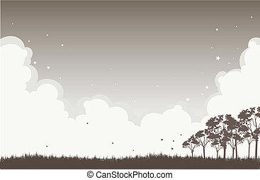 Gloomy Autumn Night