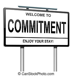 Commitment concept. - Illustration depicting a white...