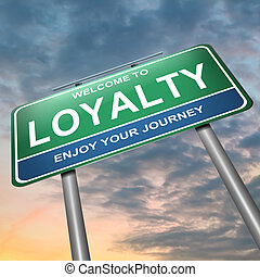 Loyalty concept - Illustration depicting a blue and green...