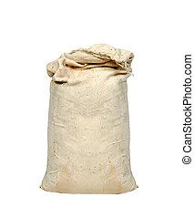 Big sack isolated on white