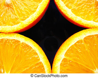 Four fraction of orange - image of background with four...