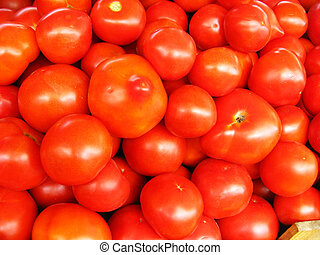 Background of red ripe tomatoes - image of background of red...