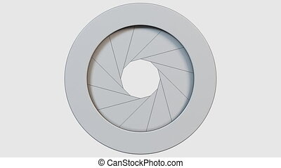 Diaphragma - Camera diaphragm shutter opening and closing....
