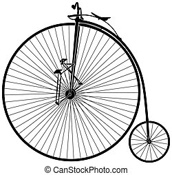 velocipede - black and white old velocipede