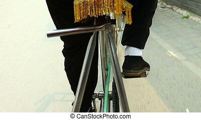 Legs of trishaw - Trip on trishaw in China