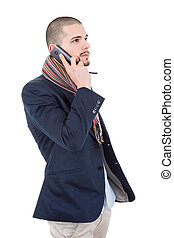 on the phone
