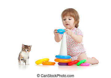 很少, 玩具, 顏色, 玩, 相當, 孩子, 或者, 孩子