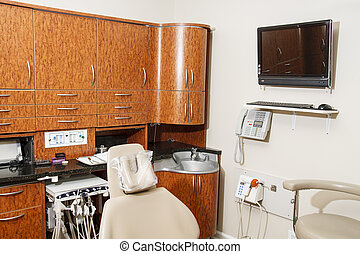Dentist Office with Wood Cabinets