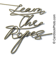 Learn The Ropes Rope - One continuous rope shaped into the...