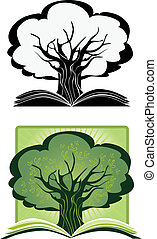 Knowledge Tree - Illustration as a concept of a growing...