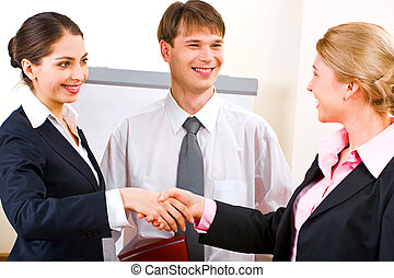Business meeting - Portrait of two successful businesswomen...