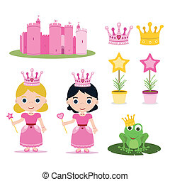 princess set - set of pink princess tale for parties