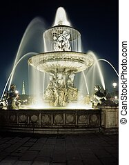 Place de la Concorde, Paris. - Fountain in the Place de la...