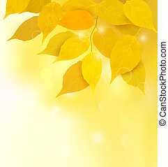 Autumn background with yellow leaves Back to school Vector...