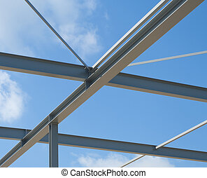 metal construction - industrial building construction of...