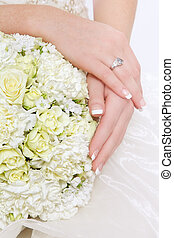 Bridal bouquet - Close-up shot of fancy bridal bouquet with...