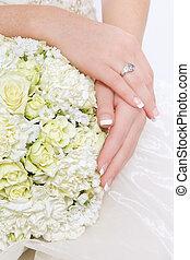 Bridal bouquet - Close-up shot of fancy bridal bouquet with...