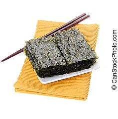 seaweed. dry seaweed on background - seaweed. dry seaweed on...