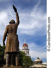 Hidalgo Statue Mexico