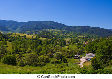 Bulgarian valley - Bulgarian village in Rodopi mountains...