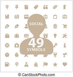 Web and social vector symbols set