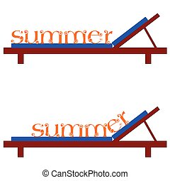 summer chairs for a beach vector illustration