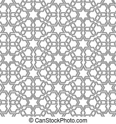 Arabian delicate pattern Vector illustration