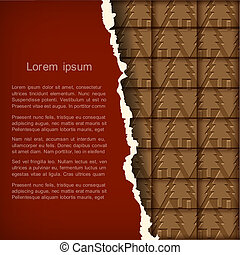 Chocolate Christmas card