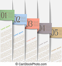 Vertical paper numbered banners