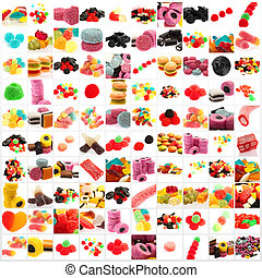 słodki, zbiór, odizolowany