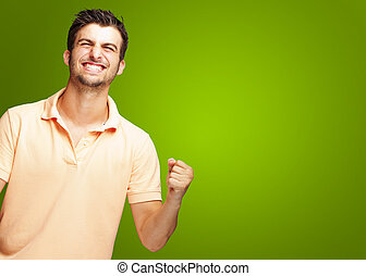 Portrait Of Excited Young Man - Portrait Of Smiling Man With...