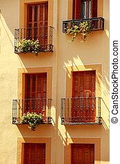 Facade of a house in Toledo, Spain
