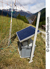 solar panel in the Swiss Alps