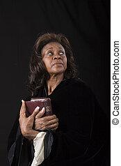 眼睛, 婦女, 向上, 聖經