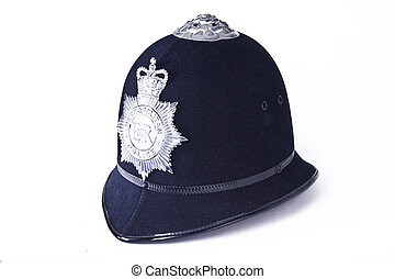 A British Police Officer's Helmet - A traditional authentic...