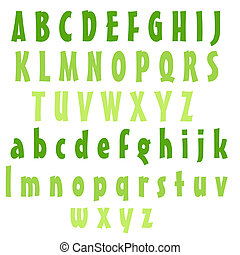 Alphabet, Briefe, limette
