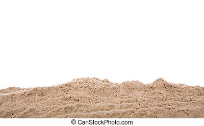 Sand scattering isolated on white background