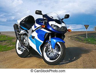 Beautiful motorcycle - Beautiful brilliant motorcycle on...