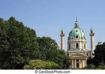 Karlsplatz, Vienna - Karlsplatz Cathedral in Vienna, Austria
